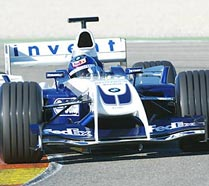 Juan Pablo Montoya in the new BMW Williams FW26