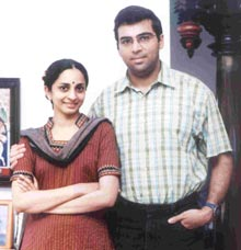 Anand with wife Aruna