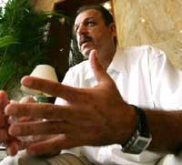 Iraq's soccer coach Adnan Hamad