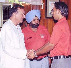Sunil Dutt, coach rajinder and Jugraj Singh