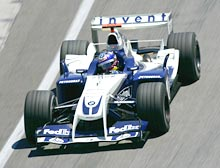 Juan Pablo Montoya of Columbia and BMW Williams in action during the United States F1 Grand Prix at the Indianapolis Motor Speedway Circuit