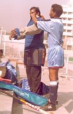Padding up the goalkeeper