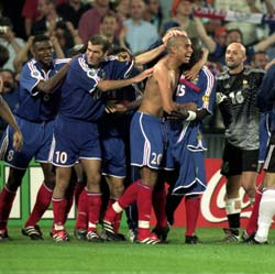 The French team celebrates