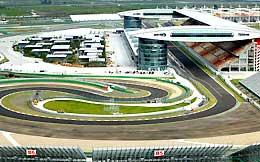 The Shanghai Formula One circuit