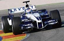 Nick Heidfeld tests the new BMW Williams FW27
