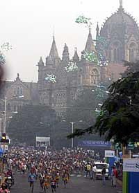 A general view of the Mumbai Marathon