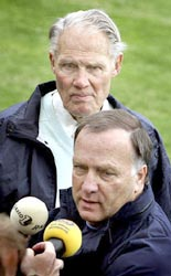 Michels (L) and Dick Advocaat