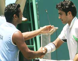 Aisam Qureshi and Leander Paes