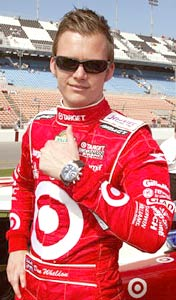 Race car driver Dan Wheldon of Emberton