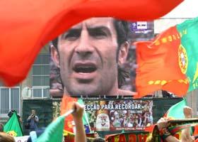 Portuguese fans celebrate in Lisbon