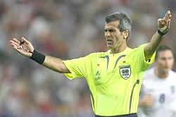 Referee Horacio Elizondo of Argentina