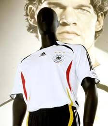 Adidas unveils German T-shirt for the World Cup