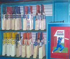 Bats on display at the Okini-Sports Town