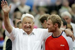 Dmitry Tursunov with Boris Yeltsin
