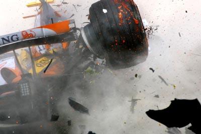 Formula Crash a 200kph Crash in Formula