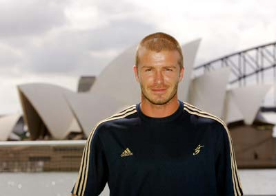 David Beckham at the Sydney Opera House
