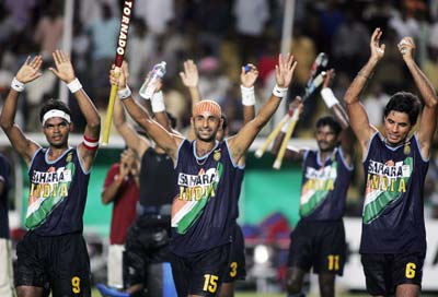 The triumphant Indian hockey team