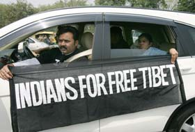Tibetan activists in New Delhi