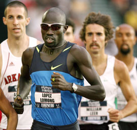 Lopez Lomong at the US Olympic trials