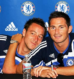 Chelsea captain John Terry (left) with Frank Lampard
