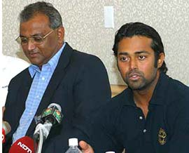 Leander Paes with father Dr. Vece Paes