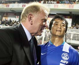 Bob Houghton and Baichung Bhutia