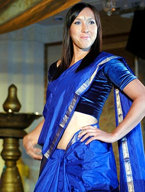 Jelena Jankovic in indian traditional saree