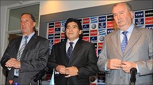 Carlos Bilardo, Diego Maradona and Julio Grondona