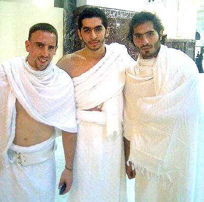 Franck Ribery and Hamit Altintop