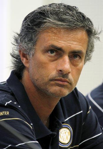 jose mourinho. Inter Milan boss Jose Mourinho