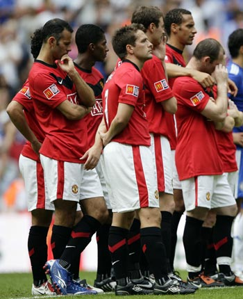 Man United players after the match