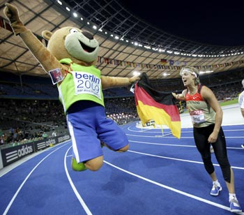 Steffi Nerius with Berlino
