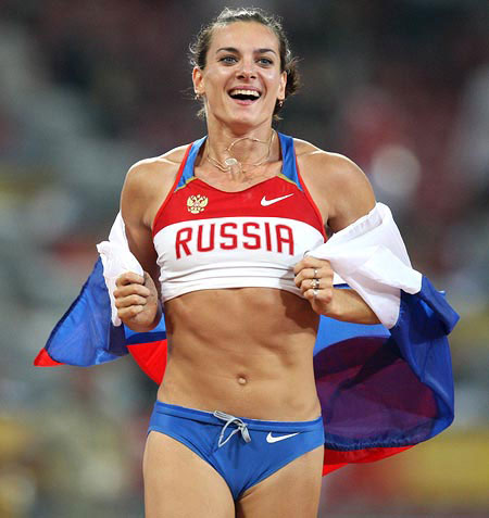 Yelena Isinbayeva regularly practices Visualisation, another form of positive thinking