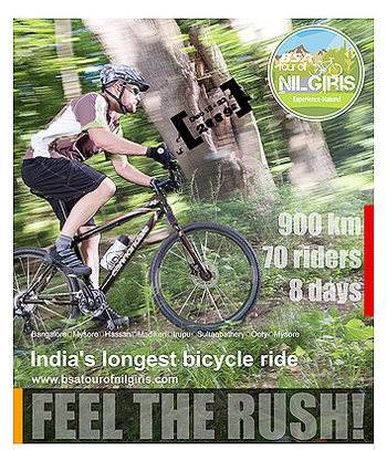 A promotional poster of the Tour of Nilgiris