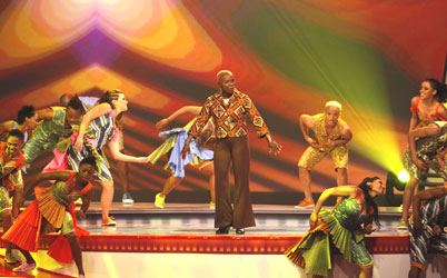 Beninoise singer-songwriter Angelique Kidjo performs before the 2010 World Cup draw in Cape Town on Friday