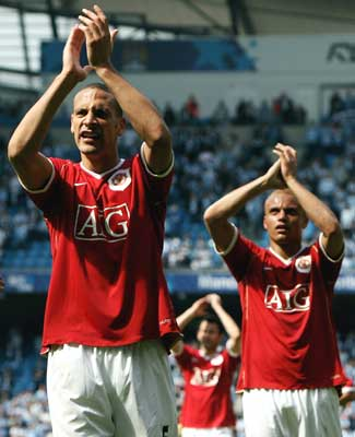 Rio Ferdinand (left) and Wes Brown