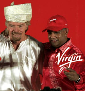 Richard Branson (left) with Tony Fernandes