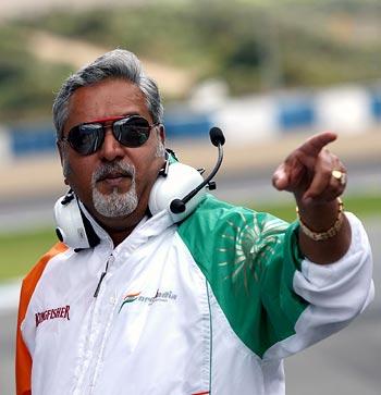 Force India owner and team principal Vijay Mallya