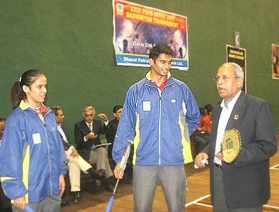 Saina Nehwal, Anup Sridhar and S Mohan