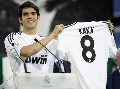 Kaka with his Real jersey