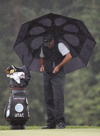 Even a Tiger needs rain pants!