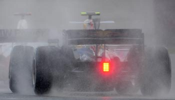 Formula One cars during the British F1 Grand Prix at Silverstone