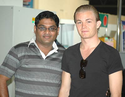Nico Rosberg with Narasimhan