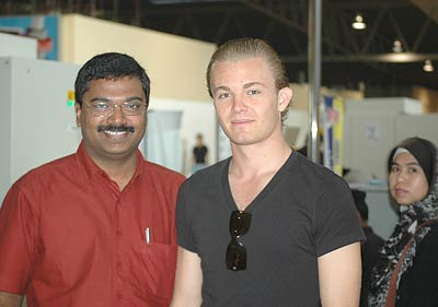 Nico Rosberg with Gokul