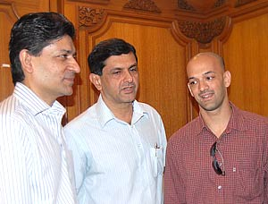 Geet Sethi, Prakash Padukone and Viren Rasquinha