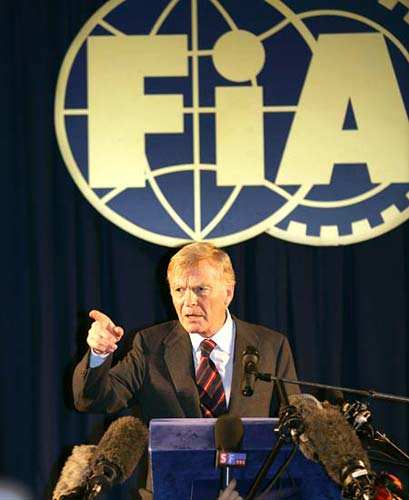 International Automobile Federation (FIA) president Max Mosley