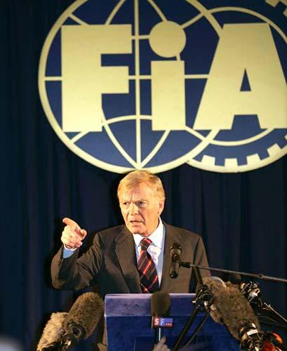International Automobile Federation (FIA) president Max Mosley