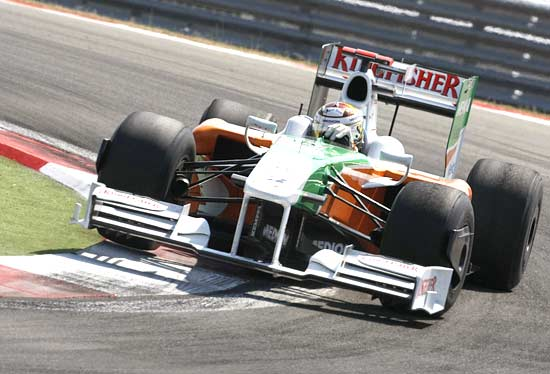 Force India driver Adrian Sutil of Germany in action