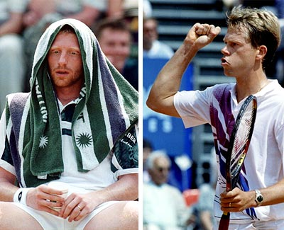 Boris Becker and Stefan Edberg.