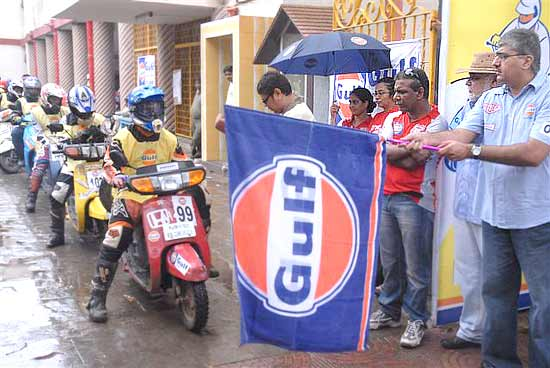 20th Gulf Monsoon Scooter Rally was flagged off by Mr Ravi Chawla, president, Lubricants, Gulf Oil Limited from Our Lady's Home in Parel